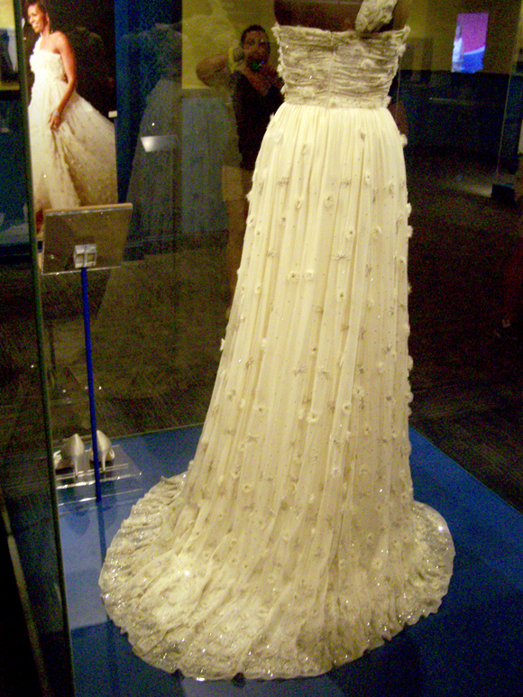 I was most interested in an exhibit featuring the inaugural gowns of the First Ladies.  Chuck and Jeremy indulged me.