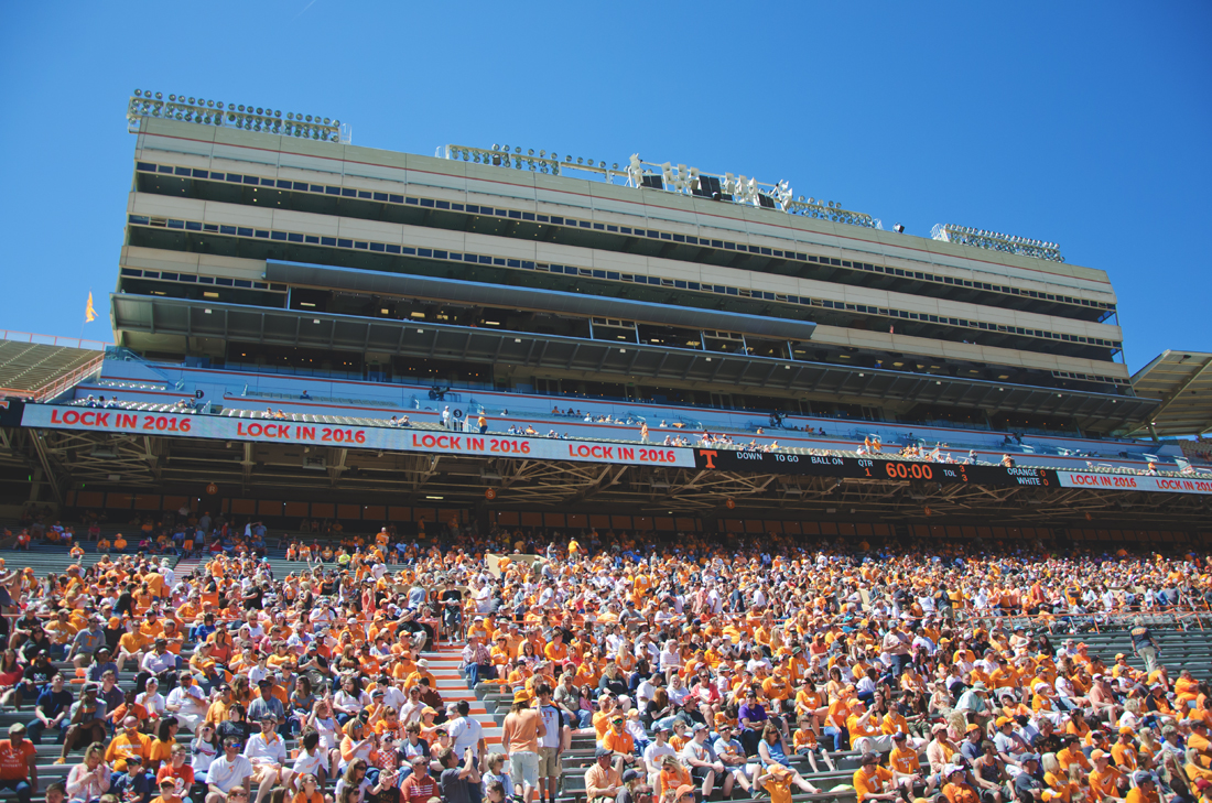 Press box at Neyland