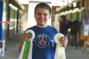 Equine therapy and Jackson's first horse show